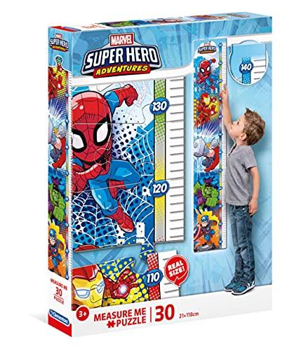 Clementoni - 20337 - Measure Me Puzzle - Marvel Super Hero Avengers - 30 Pezzi - Made In Italy - Puzzle Metro Bambini 3 Anni +