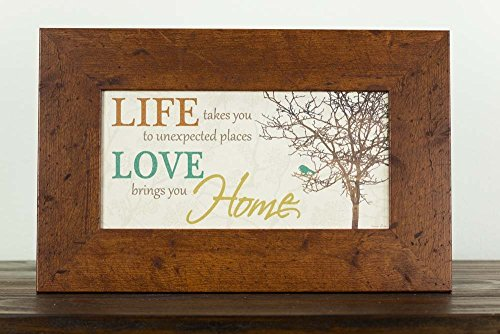 Life Takes You To Unexpected Places Love Brings You Home Framed Art Decor 10x16""