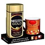 NESCAFÉ GOLD Original inklusive RED MUG mit exklusivem Winterdesign (löslicher Bohnenkaffee aus erlesenen Kaffeebohnen, vollmundig und aromatisch) 1er Pack (1 x 200g)