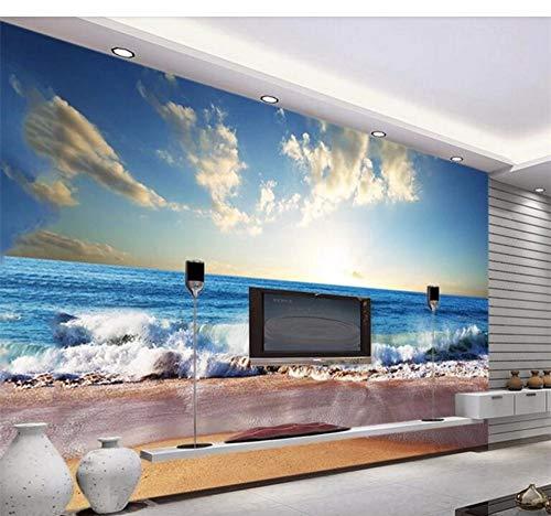 Nappes Papier Peint papiers peints photos Poster Papier Peint Mur plage phare 3fx1329vea
