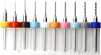 10 Pcs 0.3mm-1.2mm Tungsten Carbide Macro Drill Bits Set, PCB Drill Bit Set, Mini Drill Bit 1/8