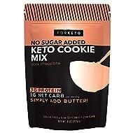 FORKETO Keto Cookie Mix - Best Keto-Friendly Dark Chocolate Chip Cookies - Low Carb Baking Snack with Zero Added Sugar, Healthy 3 G Protein Dessert, Low-Sugar Diet (8oz)
