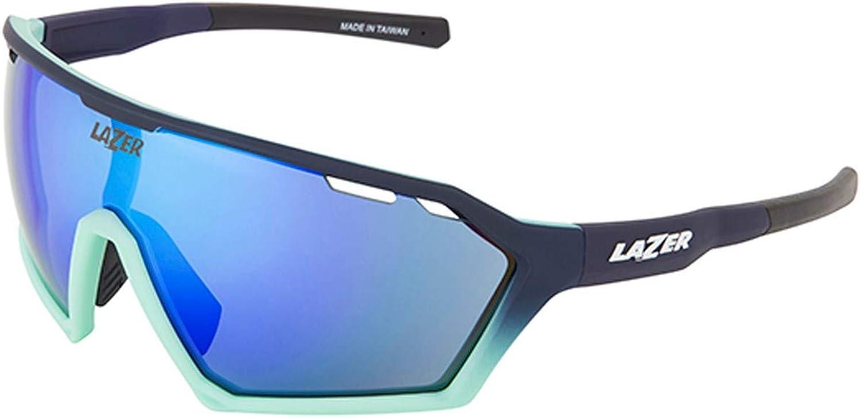 Lazer Matt Dark-blueee-Mint Green-Smoke Walter Large Cycling Glasses