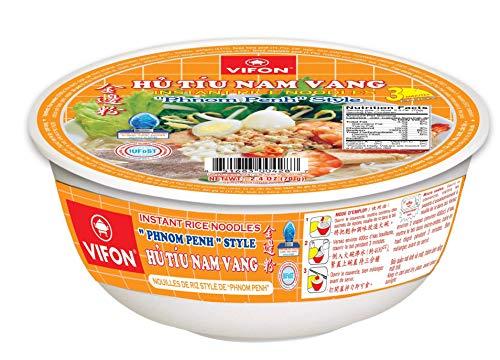 VIFON vietnamesische Phnom Penh Reisnudeln, orientalischer Stil, Hooku NAM Vang, Schüssel, 70 g, Pho Reisnudeln, Schweinefleischgeschmack – Schüssel 70 g 12