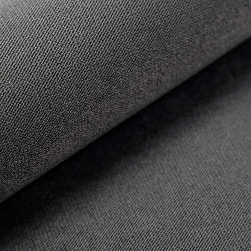 Velvet Krono, weich und elegant, Samtstoff, Möbelstoff, Polsterstoff Möbel Sitzbezug Stoff, Meterware - Grau 22