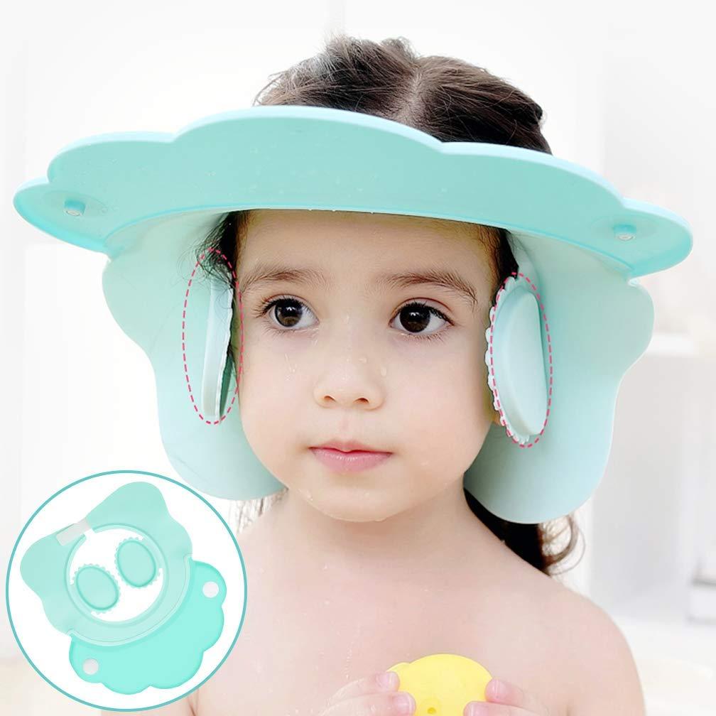 Protection Baby Kids Infants Silicone Bath Shower Shampoo Cap Visor Bathing Head Hair Rinser hat Soft Funny Safety Visor For Toddler Children