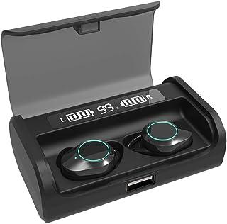 2021 Newest Dual Digital Display Bluetooth 5.0 Earbuds 4000mAh Charging Case 180H Playtime IPX7 Waterproof 9D Surround Ste...