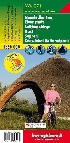 F&B WK271 Neusiedler See, Eisenstadt, Leithagebirge, Rust, Sopron met zeilkaart: Wandel- en fietskaart 1:50 000