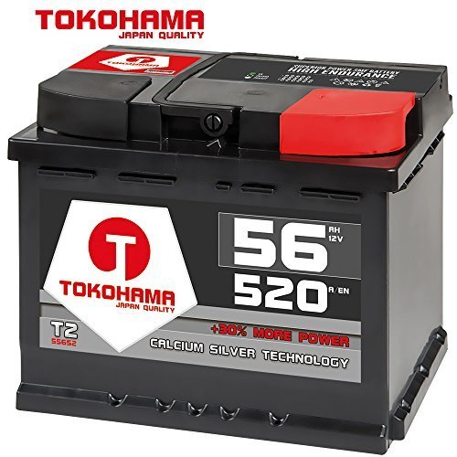 Preisvergleich Produktbild Tokohama Autobatterie 12V 56AH 520A / EN ersetzt 52Ah 53Ah 54Ah 55Ah 60Ah Opel