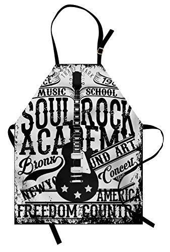 Delantal retro, Soul Rock Academy Tema Música Guitarra Eléctrica Freedom Poster Como...