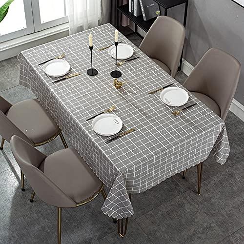 XXDD Mantel con patrón de Cuadros Simple, Mantel Cuadrado Rectangular para Cubierta de Escritorio, Mantel Impermeable para decoración de Mesa, Tapa de Mesa A2 140x140cm