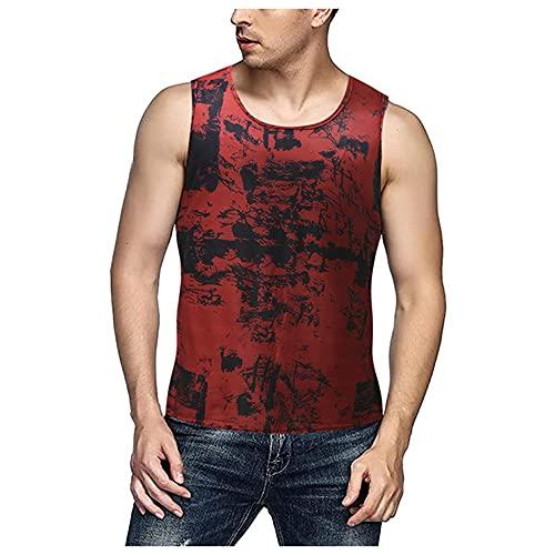 Camisetas sin Mangas para Hombre de Verano Tie Tinte Thirt Tshirts Streetwear