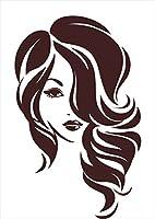 igsticker ポスター ウォールステッカー シール式ステッカー 飾り 841×1189㎜ A0 写真 フォト 壁 インテリア おしゃれ 剥がせる wall sticker poster 013232 女性 イラスト 茶色