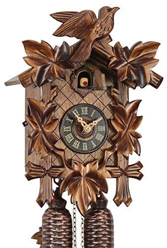 Originele koekoekoekoekoekoekklok uit het Zwarte Wouden van echt hout, mechanische 8-dagen aandrijving en VDS-certificaat - aanbieding van Horlogepark Eble - Eble -Dunlaub 28cm- 28-01-12-80