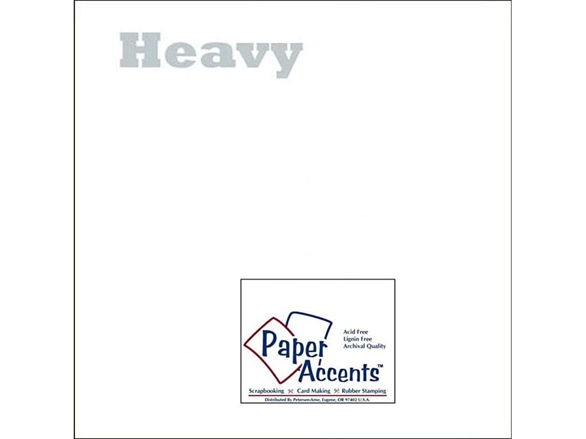 Accent Design Paper Accents ADPaperVellum1212White-Heavy Vellum 12x12 40# White Heavy