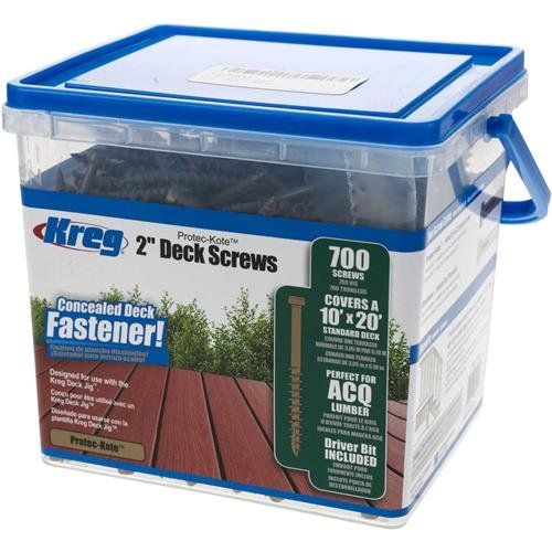KREG SDK-C2W-700 2-Inch, 8 Coarse, Deck Screw, 700 Ct