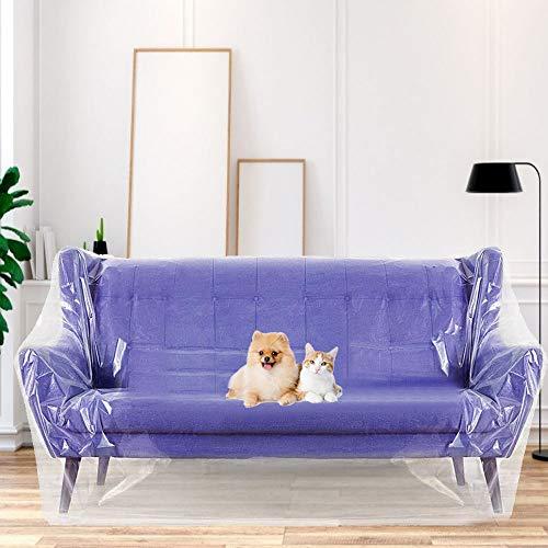 KLYNGTSK Película para Muebles Plástico Cubretodo Impermeable Cubierta de Polietileno Transparente Protector de Muebles para Cubrir Sofá Silla Muebles (2 x 3 m)