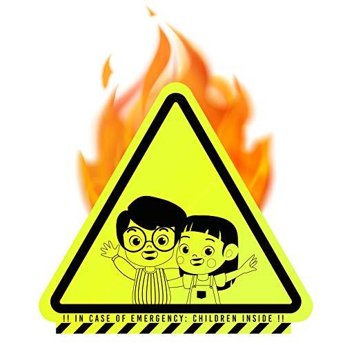 Kindervinder set van 3 stickers zelfklevend kinderkamer deur raam brandbeveiliging leidingssysteem voor brandweer veiligheid kinderen vinder sticker