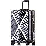 ボンイージ(bonyage) スーツケース ファスナー式 超軽量 TSAロック付 8輪 多段階調節 機内持込 旅行出張 1年保証 ブラック black Lサイズ 約56L