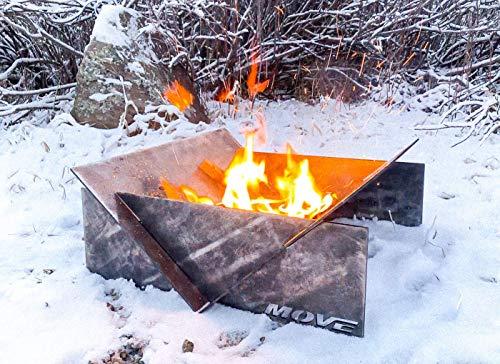 """MOVE Heavy-Duty (3/16"""" Plate Steel) Fire Pit"""