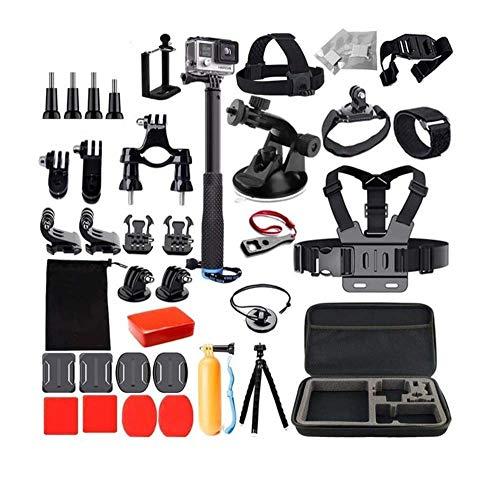 Linghuang Kit de Accesorios para AKASO V50, V50 Pro, EK5000, EK7000, dji OSMO Action, GoPro Hero 7 6 Black, Crosstour, Kit de cámara con Correa para el Pecho, Ventosa, Bolsa