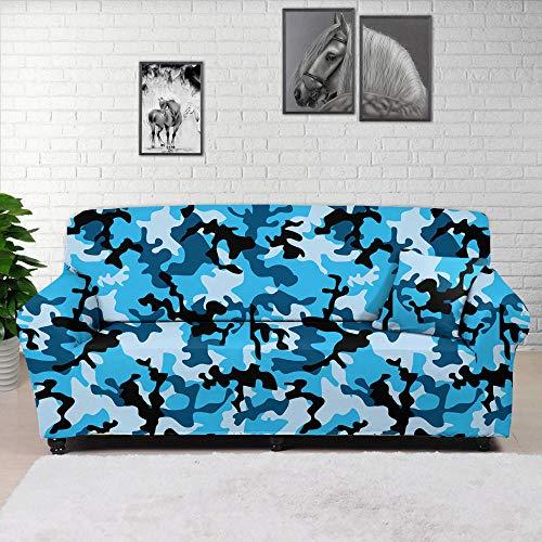 HXTSWGS Funda de sofá de diseño Creativo,Funda de sofá de Camuflaje Floral 3D, Funda Protectora elástica con Todo Incluido de Tela para el hogar, Funda de sofá de Sala de Estar-Color2_90-140cm