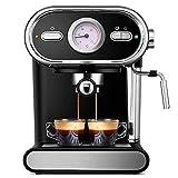 ZWWZ Máquina de café Cafetera Italiana Máquina de café semiautomática Visualización para el hogar Temperatura Completa Máquina de café Máquina de café 220V Espresso, Negro, A MISU