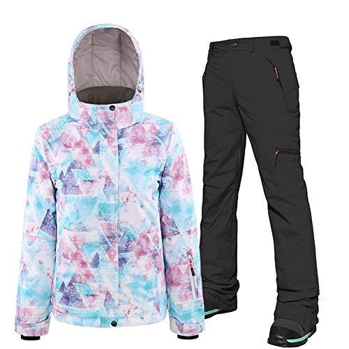 Miooore ski-jack en broek, voor volwassenen, dubbelplank, snowboardpak, skateboardpak, dames, waterdicht