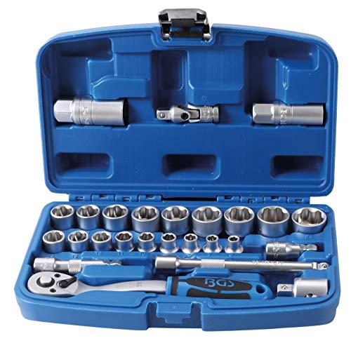 """BGS 2212   Juego de llaves de vaso perfil ondulado   entrada 10 mm (3/8"""")   26 piezas"""