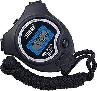 BizoeRade Cronómetro, Cronómetro Digital Cronómetro Digital de Mano para Entrenamiento Deportivo, Negro, 5 Idiomas Folleto