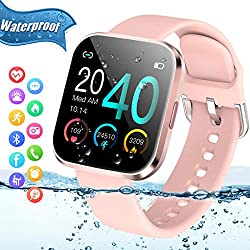 Image of Smart Watch,Bluetooth Smartwatch Touch Screen Sports Fitness Watch Activity Tracker with Heart Rate Blood Pressure Monitor IP67 Waterproof Fitness Tracker Watch for Android iOS Phones Men Women Kids: Bestviewsreviews