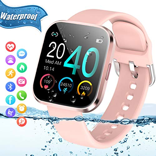 Smart Watch,Fitness Watch Activity Tracker with Heart Rate Blood Pressure Monitor IP67...