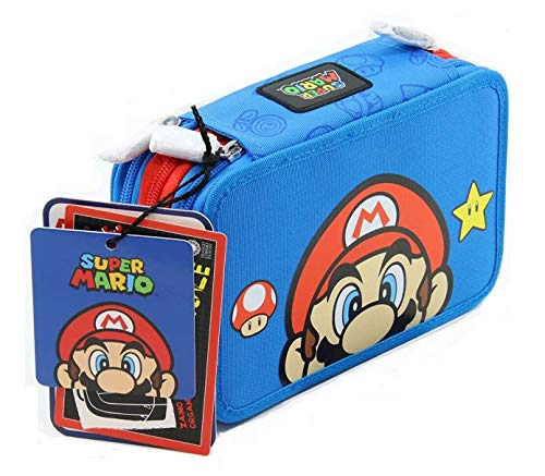 Super Mario Astuccio 3 ZIP Completo Di Cancelleria