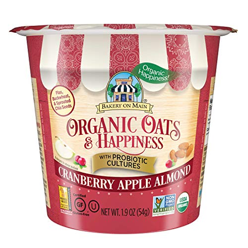 Bakery on Main Gluten Free Oatmeal Cup, Cranberry Apple Almond, 12 count