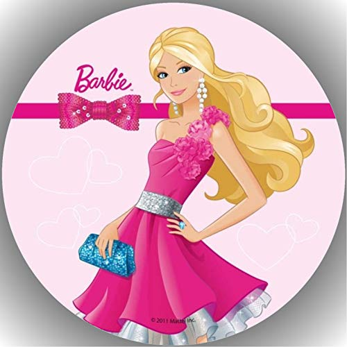 Fondant Tortenaufleger Tortenbild Geburtstag Barbie AMA16