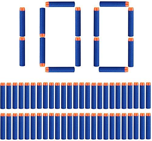 100 Stück Refill Pfeile Darts 7.2cm Foam Kugeln Bullets für N-Streik Elite Series Blasters
