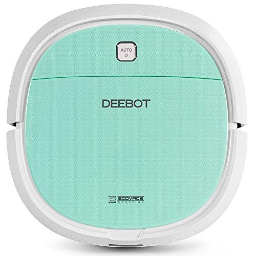 Ecovacs Robotics DEEBOT Mini-Robot Aspirapolvere ad Aspirazione Diretta, 56 Decibel, Verde