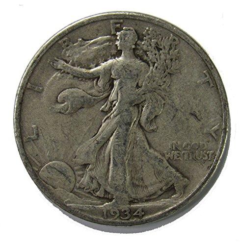 1934 S Walking Liberty Half Dollar 50c Very Fine
