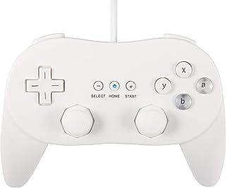 【Infityle】Wii 用 コントローラ WiiU PRO 対応 リモ コン クラシック  ゲームパッド 日本語説明書 &1年保証付き(ホワイト1)