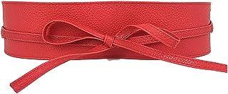 Women's PU Soft Leather Waist Belt Bow Tie Wrap Around Boho Corset Fashion Elegant for Dresses