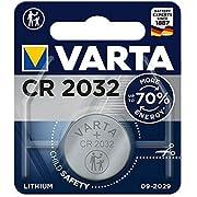 VARTA Batterien Electronics CR2032 Lithium Knopfzelle 3V Batterie 1er Pack Knopfzellen in Original 1er Blisterverpackung