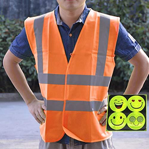 Reflecterend vest veiligheidsvest reflecterend veiligheidsvest veiligheidskleding werkkleding L-size 48 oranje