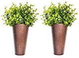 Monarch Abode 20611 Copper Finish Hand Hammered Metal Wall Planter