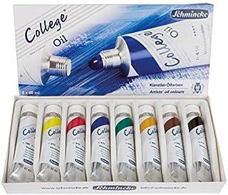 Schmincke Künstlerfarben College Oil Kartonset Ölfarben 8 x 60 ml