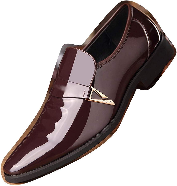 Soft Men's Leather shoes, Microfiber Leather Men's Wedding shoes, Men's shoes Cortical (color   Brown, Size   43)