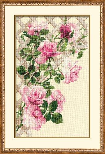 Riolis 16 de ropa de cama de rosas en diseño de rombos juego de punto de cruz, 13,75 de 55,25 cm por Riolis