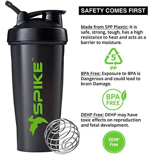 Spike Protein Shaker Blender Bottle