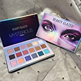Beauty Glazed Mysterious Eyeshadow Palette Matte Shimmers Makeup 18 Colors Pigmented Eye Shadow Blendable Long Lasting Pop Colors
