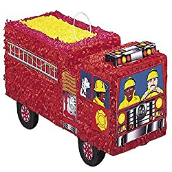 "Fire Engine Pinata, 13"" x 20.5"""