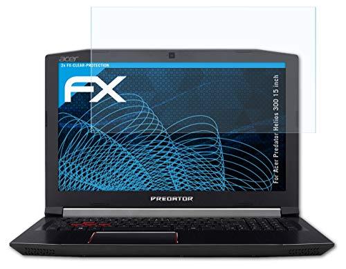 atFolix Schutzfolie kompatibel mit Acer Predator Helios 300 15 inch Folie, ultraklare FX Bildschirmschutzfolie (2X)